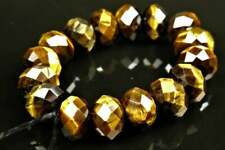 Chatoyant Golden Tiger Eye Faceted Rondelle - 8mm x 5.5mm ~ 16 beads ~ 8174A