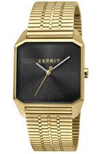Esprit Men's Watch ES1G071M0065 Cube Mens Black Gold Brand Watch New