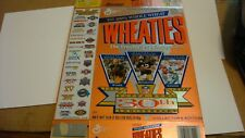 Wheaties Super Bowl 30th Anniversary Box Excellent Flat