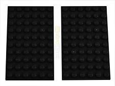 2x LEGO® 3033 6x10 Platte schwarz NEU