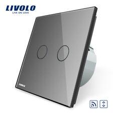 FUNK Touch Rollladenschalter Grau Glas 2 JAHRE GARANTIE!!! LIVOLO VL-C702WR-15