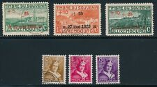 LUXEMBOURG (1923) SURCHARGES B4-6 (COMPLETE) & B55-57 (1933); ALL USED CV $72