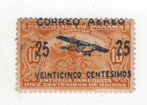 PANAMA, SC # 1, DISPLACED OVERPRINT, MH