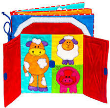 """Farmer Joe's"" Child's Quiet Book Kit. Opening flaps, removable shapes. Applique"