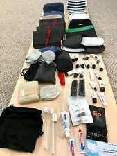 Airline Business Class Amenity Kit Lot Cathay Pacific, Qantas, Thai, Qatar +More