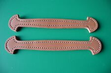"2 LEATHER TRUNK HANDLES SOLD IN PAIRS, NATURAL 9 3/4"" L X 1 7/8"" W X 5/16"" THICK"