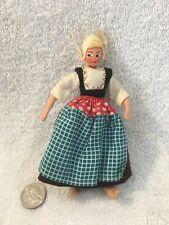 New ListingOld 1920's Dutch Holland Folk Girl Cloth Face Doll Wired Body Dollhouse Figure