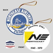 Northeast Airlines Christmas Ornament - Collectible Gift Defunct Vintage Logo