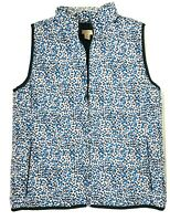 J.Crew Womens Size M Vest Quilted Puff Jacket - Blue/Black/White