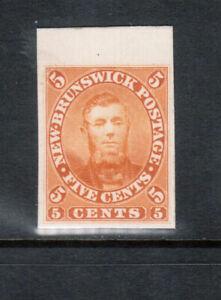 New Brunswick #5TC Extra Fine Proof In Orange India Paper On Card