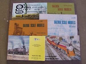 HO Scale Brass Locomotive Catalog Lot, Balboa, PFM, Hallmark, Gem