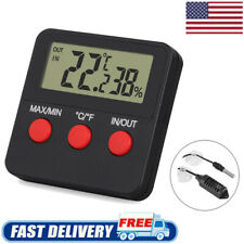 Digital Thermometer Hygrometer Temp Humidity Monitor For Egg Incubator Indoor