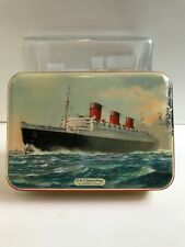 Vintage Bensons English Candies RMS Queen Mary Tin candy Box
