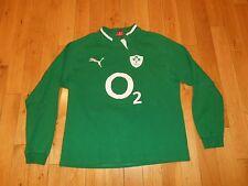 Puma IRFU IRISH RUGBY FOOTBALL UNION Long Sleeve Classic Jersey Kit Mens XL