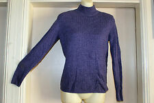 KAREN SCOTT BNWT PURPLE MARL LONG SLEEVED CABLE KNIT JUMPER, SZ US SML AUS 8