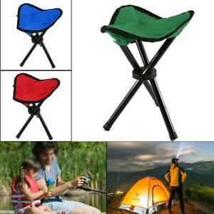 New Camping Fishing Travel Foldable Tripod Folding Seat Stool Chair Portable