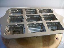 NORDIC WARE 9 SECTION 5 CUPS TRAIN CAKE PAN RAILROAD LOCOMOTIVE CARS