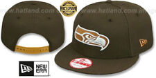 Seahawks 'TEAM-BASIC SNAPBACK' Brown-Wheat Hats by New Era