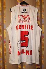 FIBA ALESSANDRO GENTILE OLIMPIA MILAN BASKETBALL JERSEY ITALY ARMANI SIGNED EA7