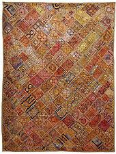 236x180 cm antik orient Patchwork Teppich Wandbehang bettdecke Bedcover Kutch 10