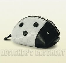 GUCCI ivory/black Micro Guccissima LADYBUG Zoo Collection Coin purse NIB Authent