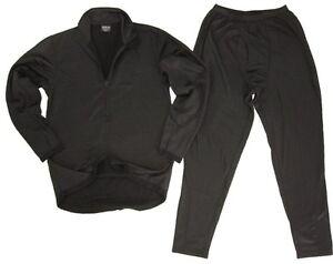 Third Generation ECWCS Thermal Underwear Black - Winter Under Base Layer Set