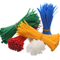 RED BLUE GREEN YELLOW CABLE ZIP TIES - 2.4mm 3.6mm 4.8mm 100mm 160mm 200mm 300mm