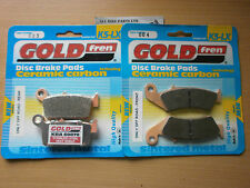 FULL SET (OFF-ROAD) BRAKE PADS HONDA CR 250 (1987-1988) CR250 *GOLDFREN SINTERED