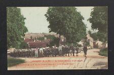 LUZANCY (77) COLONIE SCOLAIRE DU 18° trés animée Enfant-Tambour en 1906
