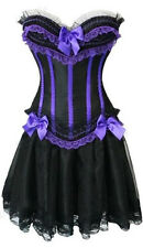 Burlesque Moulin Rouge Can Can Girl Fancy Dress Outfit Corset Skirt 8 10 12 14