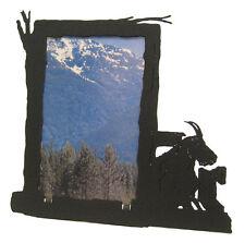 Mountain goat black metal 4x6V picture frame