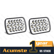"""Pair 7x6""""Inch LED Headlights High/Low Beam Crystal 6000K For Jeep Nissan Toyota"""