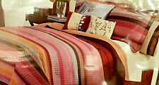 New, gorgeous Martin Stripe 8-piece king size Luxurious contempory Bed-in-a-Bag