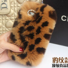 Hot Fashion Soft Bling Plush Rabbit Fur Fluffy Warm Girl's Back Case Cover Skin
