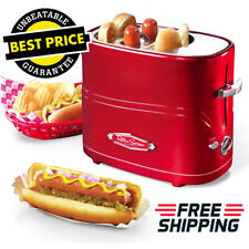 Nostalgia Retro Red Toaster Pop-Up Hot Dog & Bun with Mini Tongs Fast Meal [New]