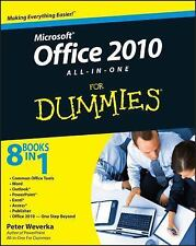 Office 2010 All-in-One For Dummies by Weverka, Peter, Good Book