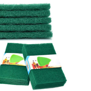 5pcs scouring pads cleaning cloth dish towel green home scour scrub set&ZY