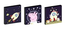 """PEPPA AND GEORGE PIG SPACE 10"""" x 10"""" CANVAS PICTURE SET"""