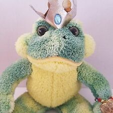 Aurora Crowned Frog Prince Plush Stuffed Animal 2002 Locket Wings Green Yellow
