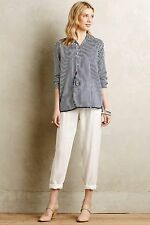 Anthropologie Holding Horses Blue White Striped Button-Down Blouse Size XS S