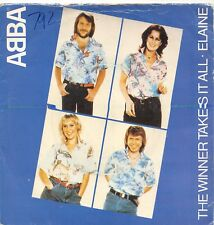 "ABBA THE WINNER TAKES IT ALL 7"" VINYL RECORD 45 RPM SLEEVE VG / VINYL VG+ 1980"