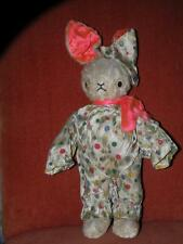 VINTAGE GUND CREATIONS J SWEDLIN EASTER RABBIT BUNNY straw stuffed