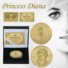WR Remember Princess Diana Gold Plated Coin Gift Box Set Rose Of England For Her
