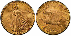 1927 AV $20, Double Eagle. PCGS MS66 Saint-Gaudens Philadelphia KM 131.