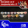 13 x Custom WWE WWF Championship Belts for Mattel/Jakks/Hasbro Figures