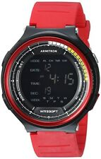 Armitron Men's Red Resin Digital Watch, 100 Meter WR, Chronograph, 40/8418RED