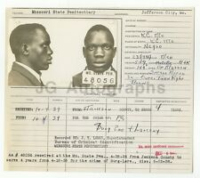 Police Booking Sheet - Burglary - Jefferson City, Missouri, 1939