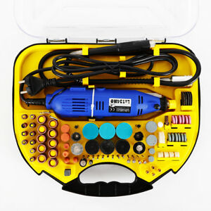 211PC Electric Rotary Tool Set Mini Drill Grinder Engraver Sander Polisher Craft