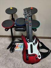 Nintendo Wii/Wii U Band Hero Super Bundle Set - 2 Guitars, Drums, Mic and Game