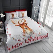 Christmas Winter Wonderland Reindeer Duvet Set (Double)
